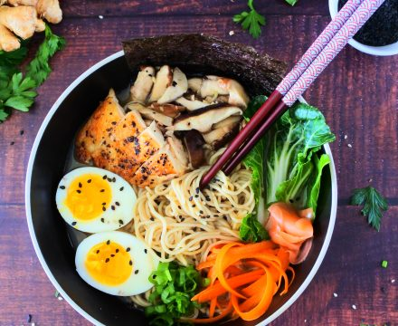 Easy Clean Eating Chicken Shoyu Ramen (For Two)