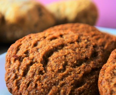 Chewy Gingerbread Cookies (Gluten-Free, Dairy-Free, Egg-Free)