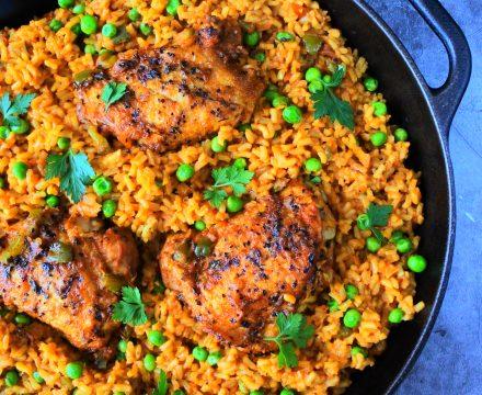 Arroz con Pollo (Cuban Style Rice and Chicken)
