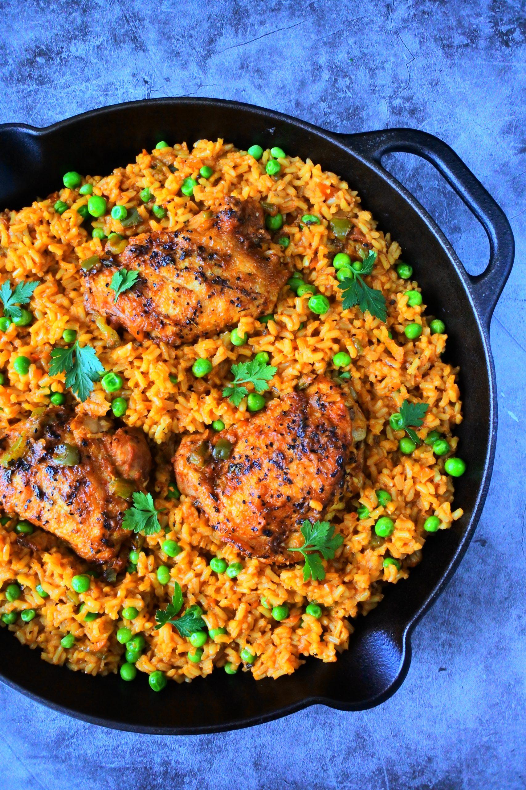 Arroz con Pollo (Cuban Style Rice and Chicken) - Kitrusy
