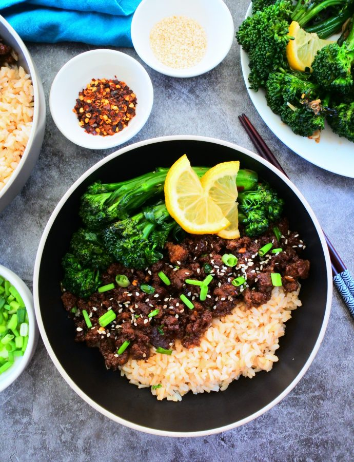 Ground Beef Teriyaki Bowls