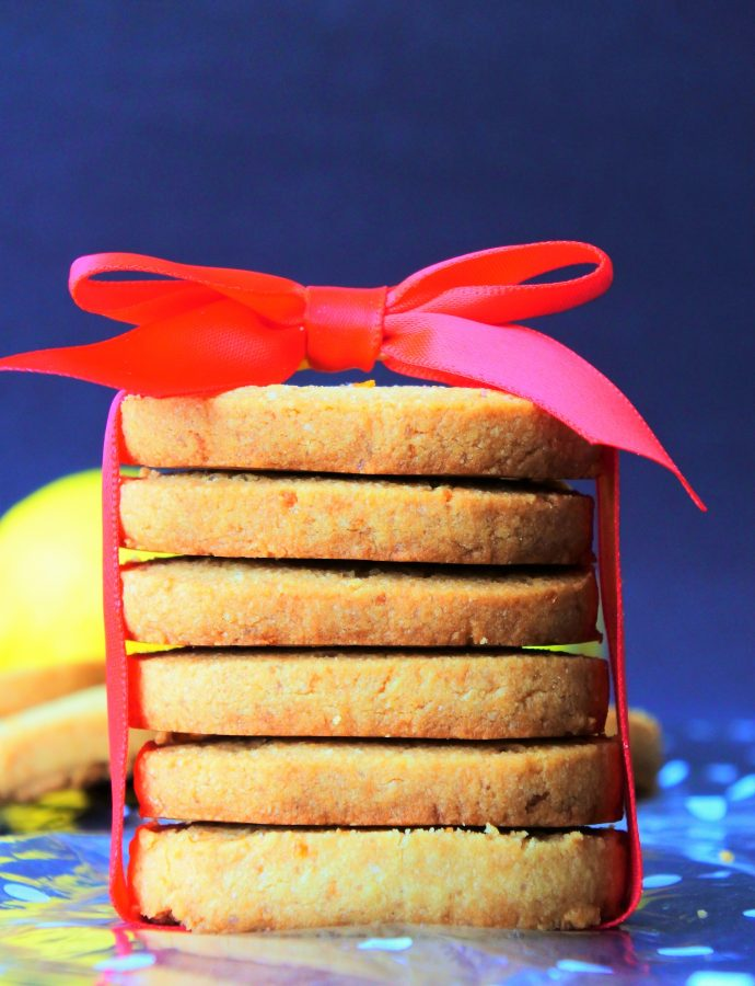 Lemon Shortbread Cookies (Gluten Free, Egg Free)