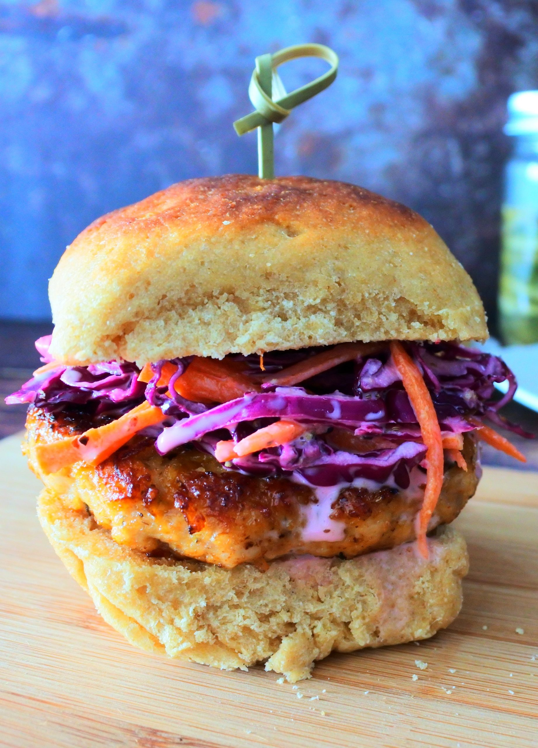 The Best Ground Chicken Burgers Served With A Simple Slaw Kitrusy