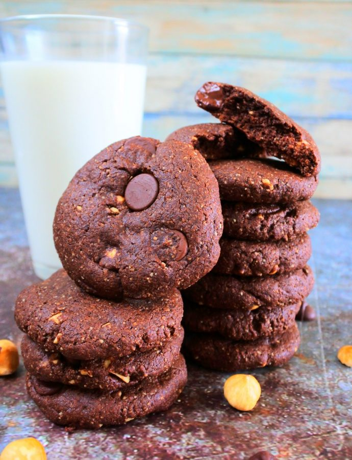 Gluten-Free Double Chocolate and Hazelnut Cookies