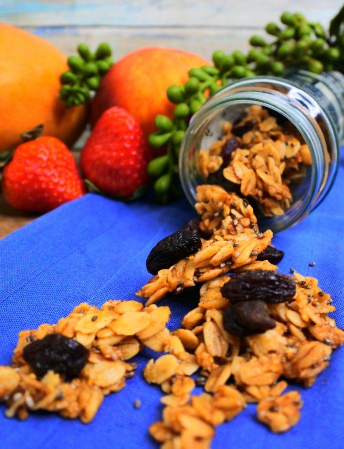Clean and Easy Oatmeal Raisin Granola