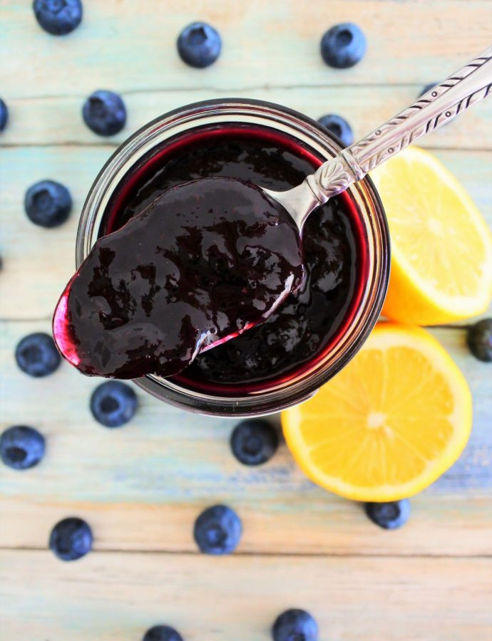 Incredibly Easy Blueberry Jam