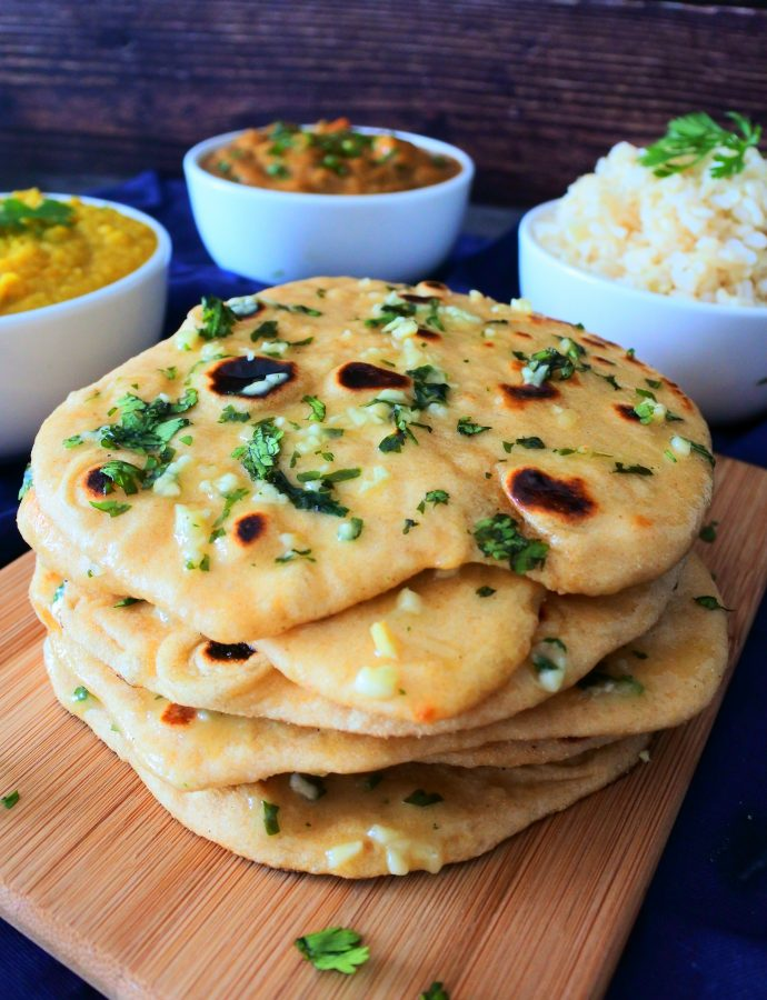 Quick and Easy No-Rise Garlic Naan