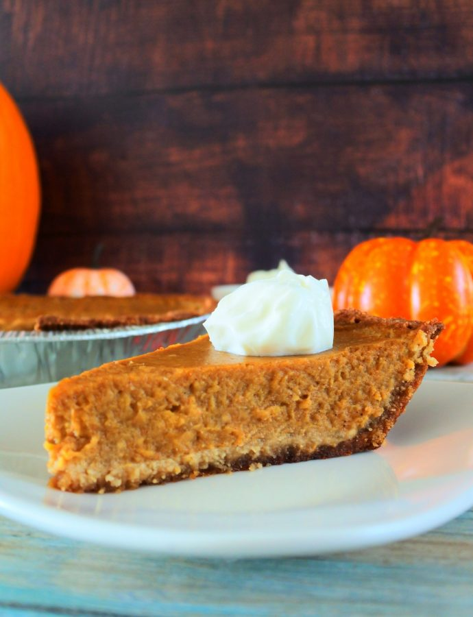Homemade Pumpkin Pie (Clean Eating, Gluten-Free, Paleo)