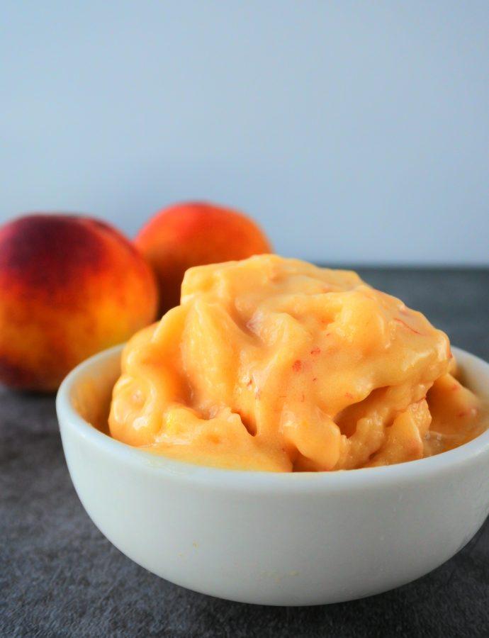 The Easiest Peach Sorbet (One Ingredient!!)